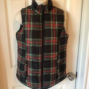 Jason Maxwell plaid puffy vest size small